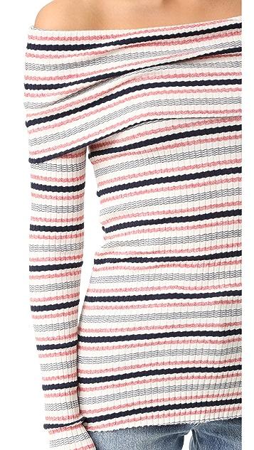 Splendid Stripe Rib Pullover
