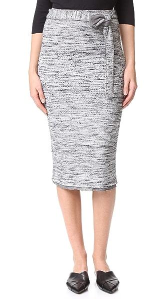 Splendid Space Dye Rib Skirt - Heather Grey