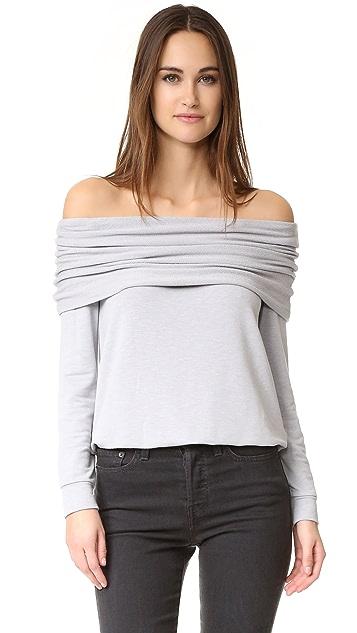 Splendid Foldover Sweatshirt