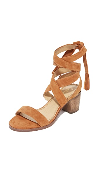 Splendid Janet City Sandals In Cognac