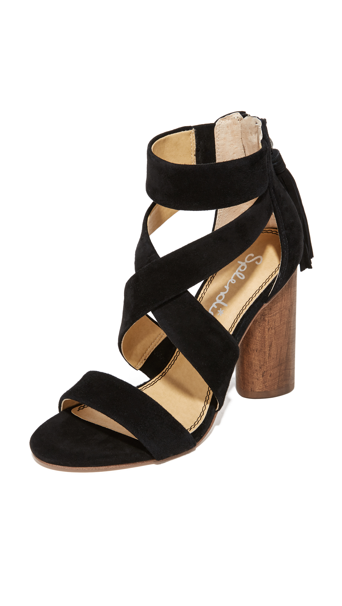 Splendid Jara Heeled Sandals - Black