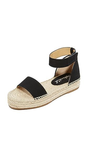 Splendid Jensen Platform Sandals - Black