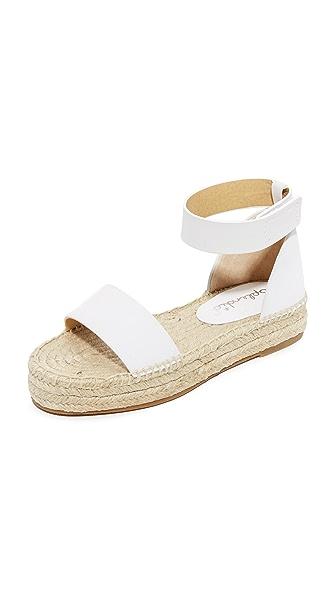 Splendid Jensen Platform Sandals - Off White