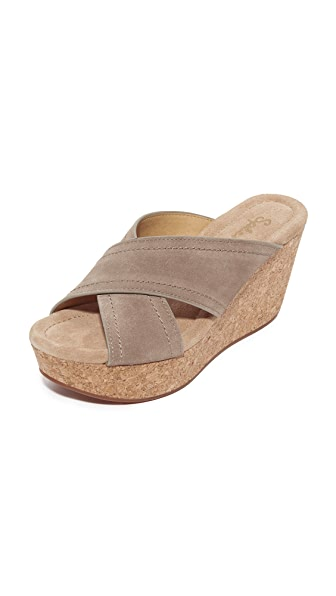 Splendid Joan Cork Wedges - Light Taupe
