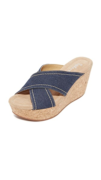 Splendid Joan Cork Wedges - Denim Blue