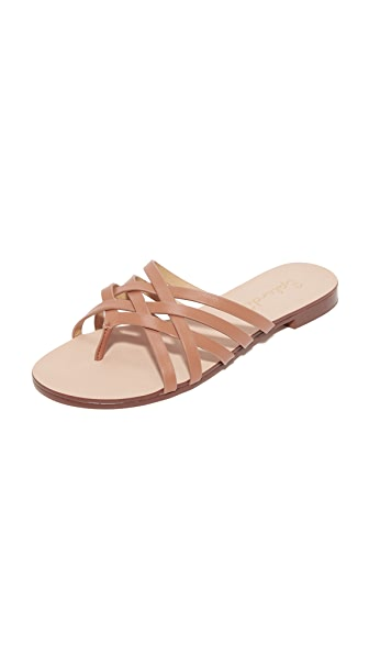 Splendid Jojo Leather Slides - Tan
