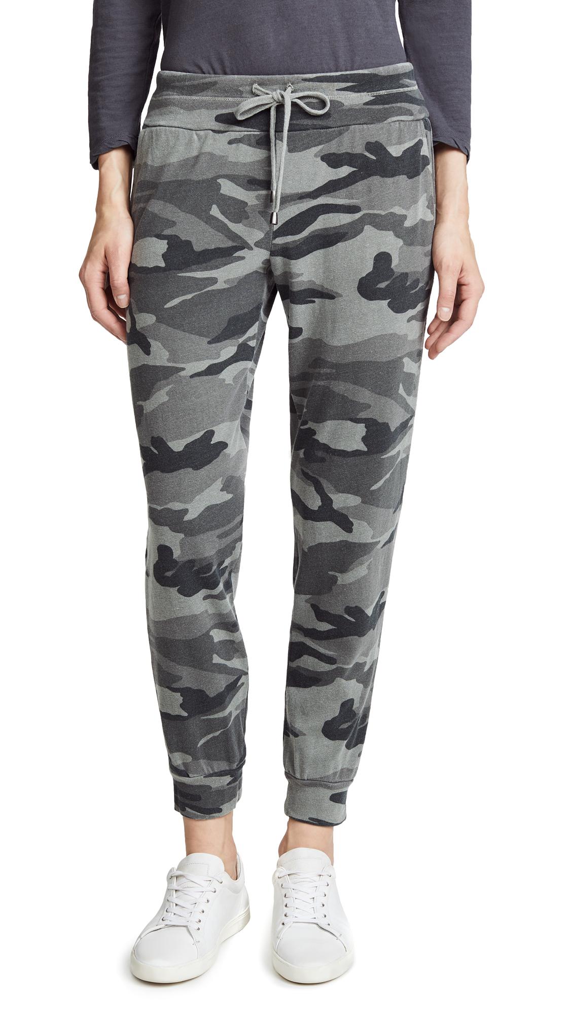 Splendid Camo Active Jogging Pants - Military Olive