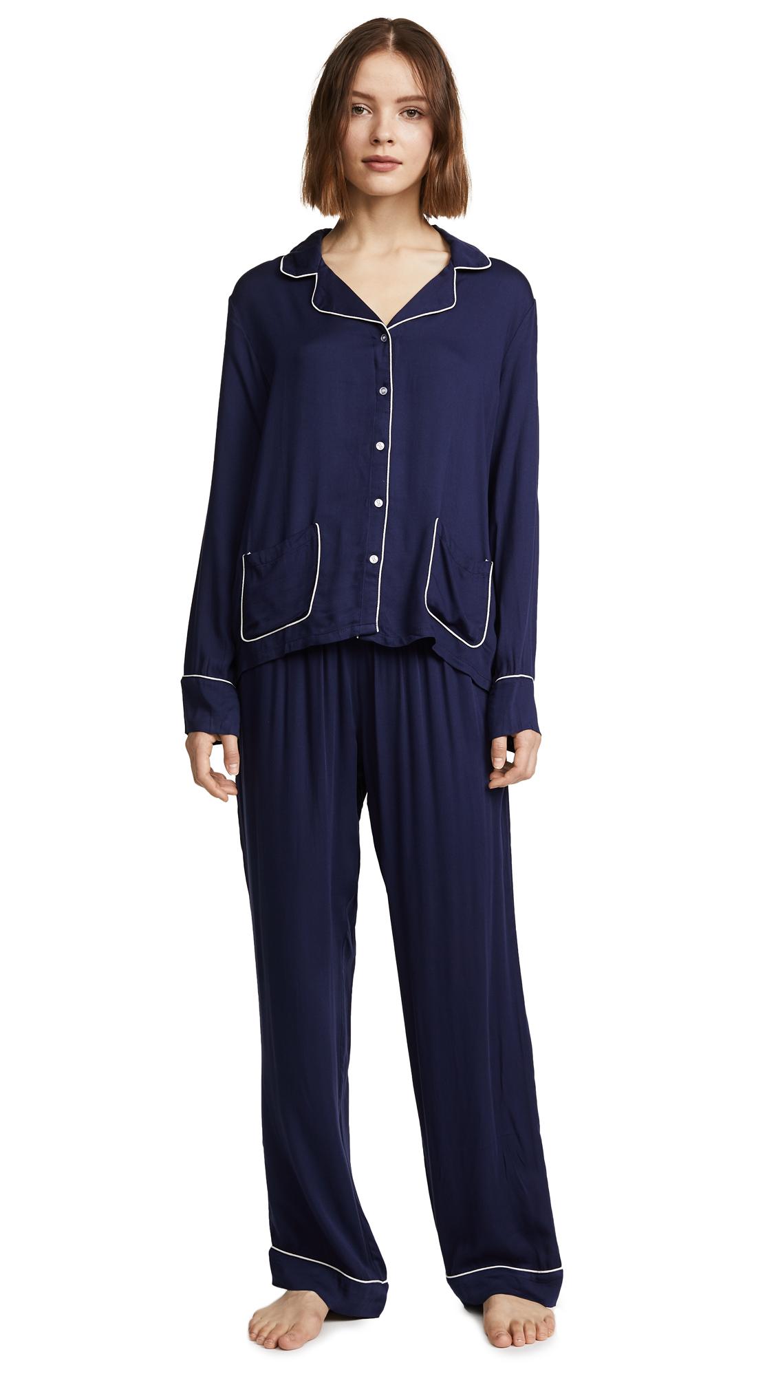 Splendid Woven PJ Set - Midnight Navy
