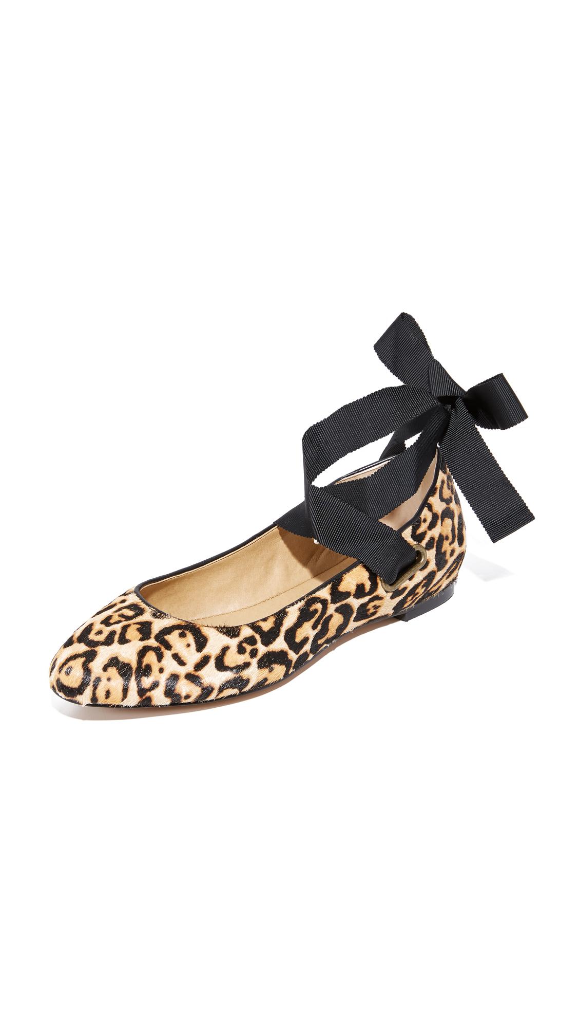 Splendid Renee II Wrap Ballet Flats - Leopard