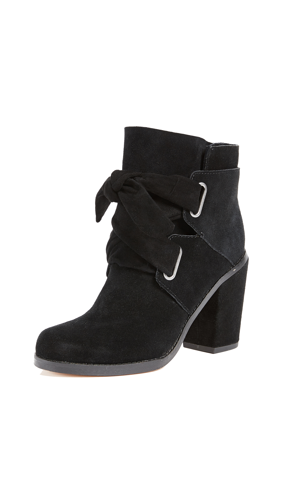 Splendid Rhiannon Tie Booties - Black