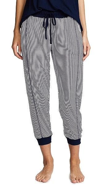 Splendid Always Stripe Crop PJ Pants In Lakeside Stripe