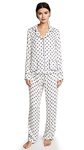 Splendid Polka Dot PJ Set In Snowy Polka Dot