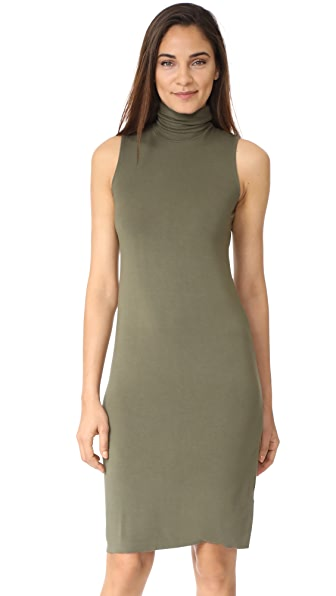 Splendid Mock Neck Dress - Olivine