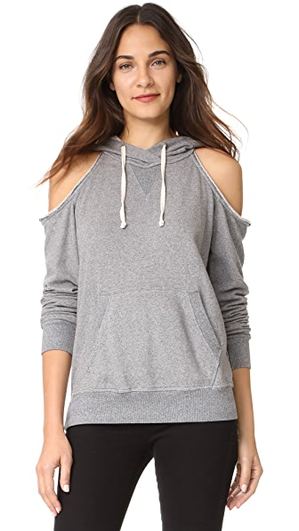 Splendid Soft Cotton Cold Shoulder Hoodie