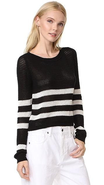 Splendid Halloway Striped Mesh Sweater