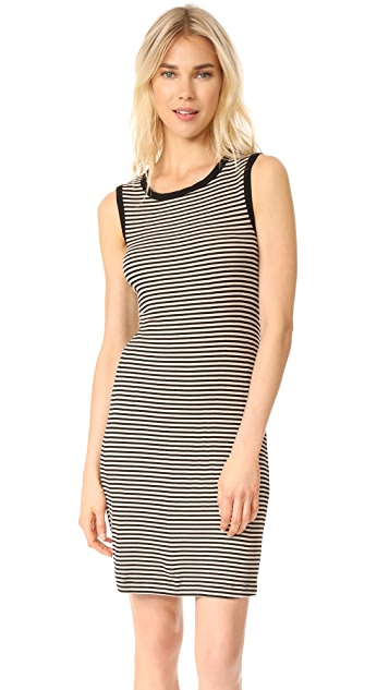 Splendid Striped Ribbed Dress