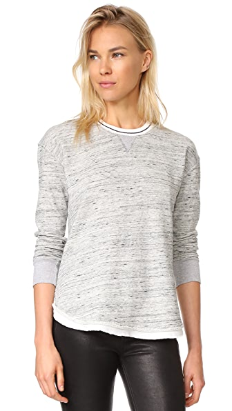 Splendid Ria Active Sweatshirt - Marble Grey