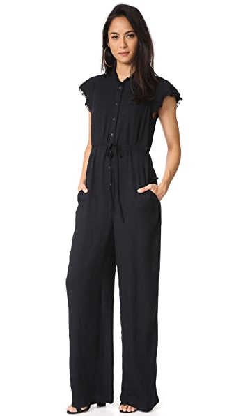 Splendid Heavy Crosshatch Jumpsuit - Black