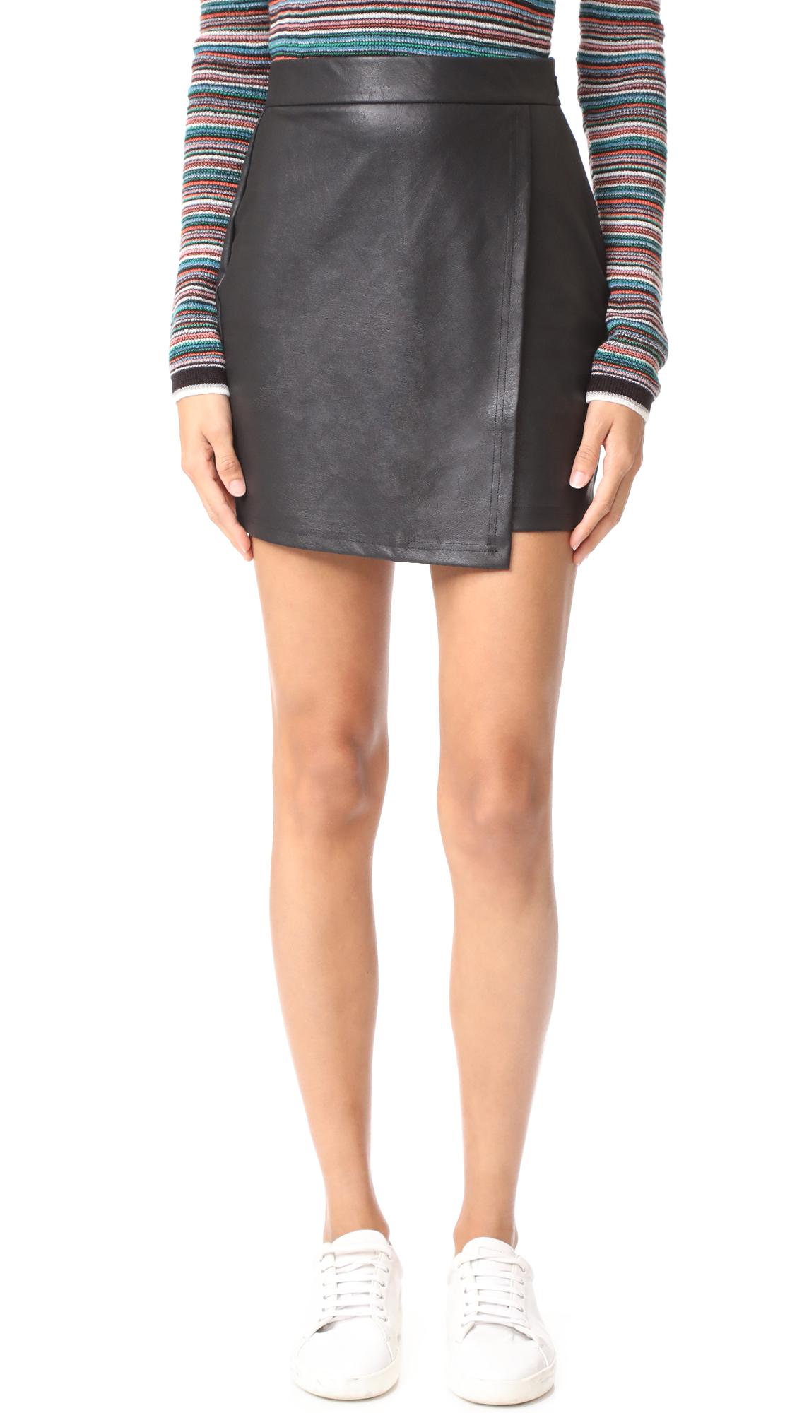 Splendid Faux Leather Skirt - Black