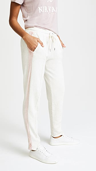 Splendid Colorblock Velour Pants