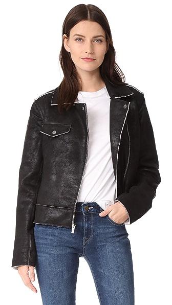 Splendid Bonded French Terry Jacket In Black