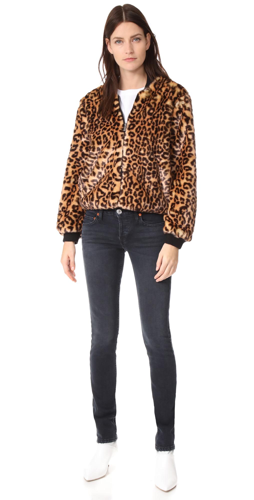 Splendid Leopard Faux Fur Bomber Jacket | SHOPBOP