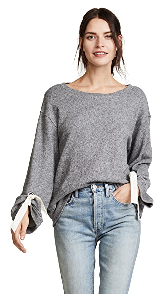 Splendid Madison Avenue Sweatshirt In Heather Grey