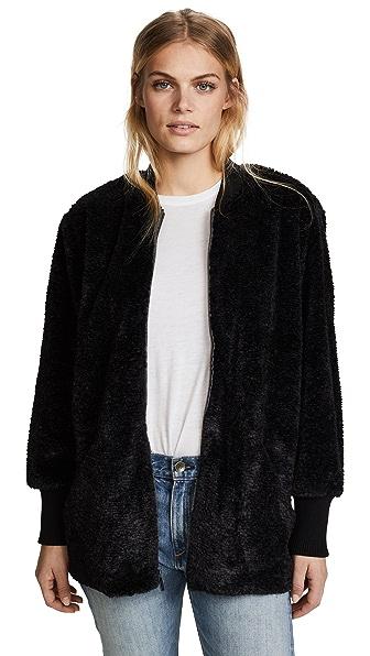Splendid Gramercy Faux Fur Jacket In Black