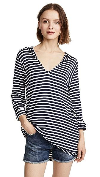 Splendid Stripe Covers Hoodie Tunic