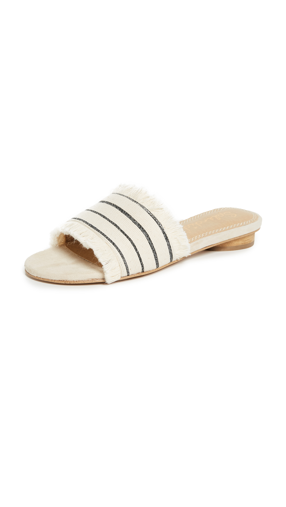 Splendid Baldwyn Striped Slides - Cream Combo