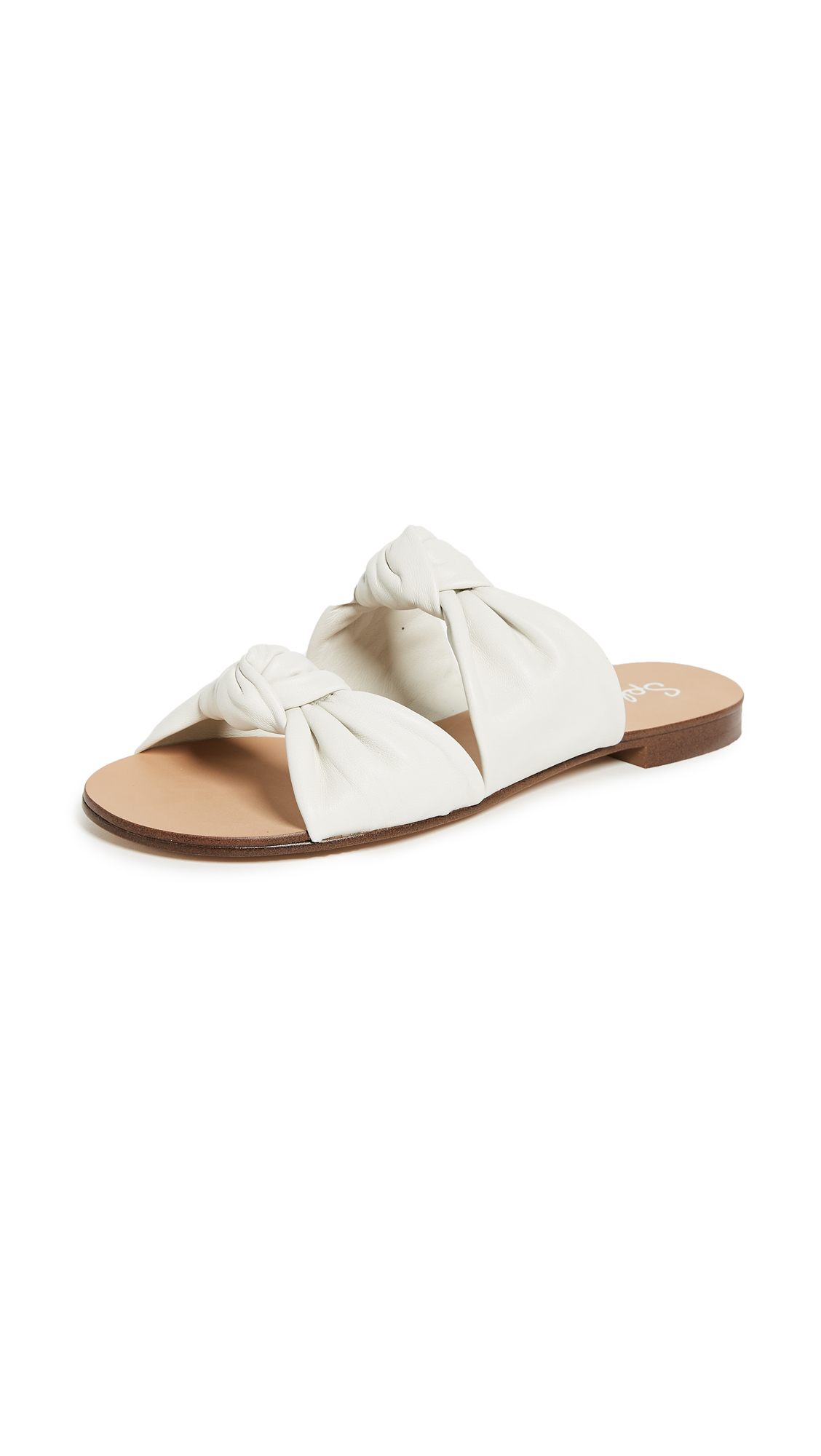 Splendid Barton Knotted Slides - Off White