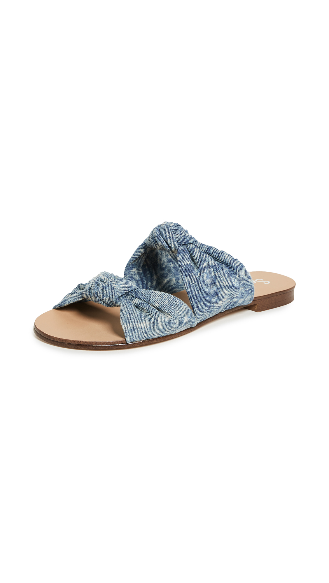 Splendid Barton Knotted Slides - Denim