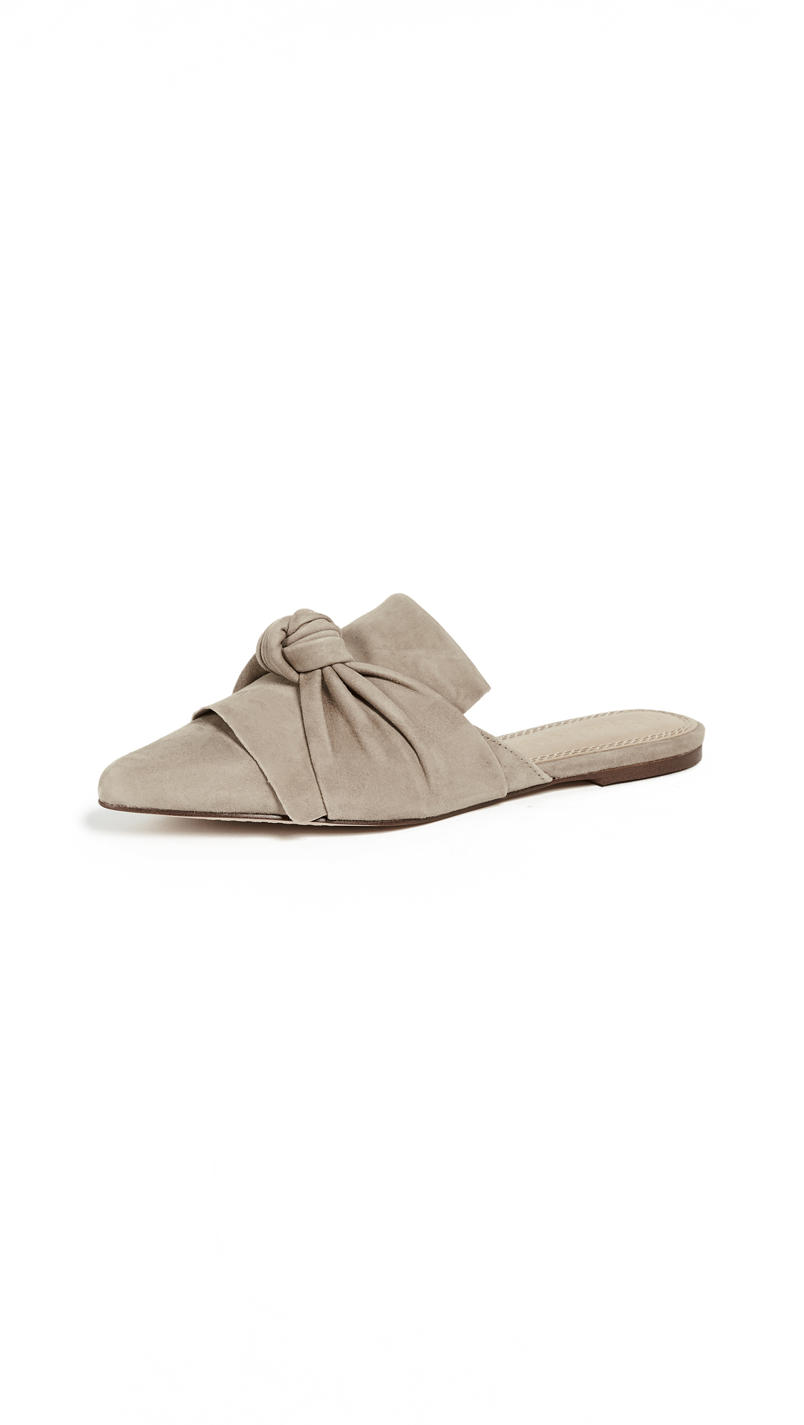 Splendid Bassett Flat Knotted Mules In Light Taupe