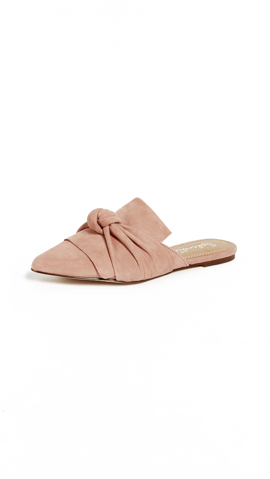 Splendid Bassett Flat Knotted Mules - Dark Blush