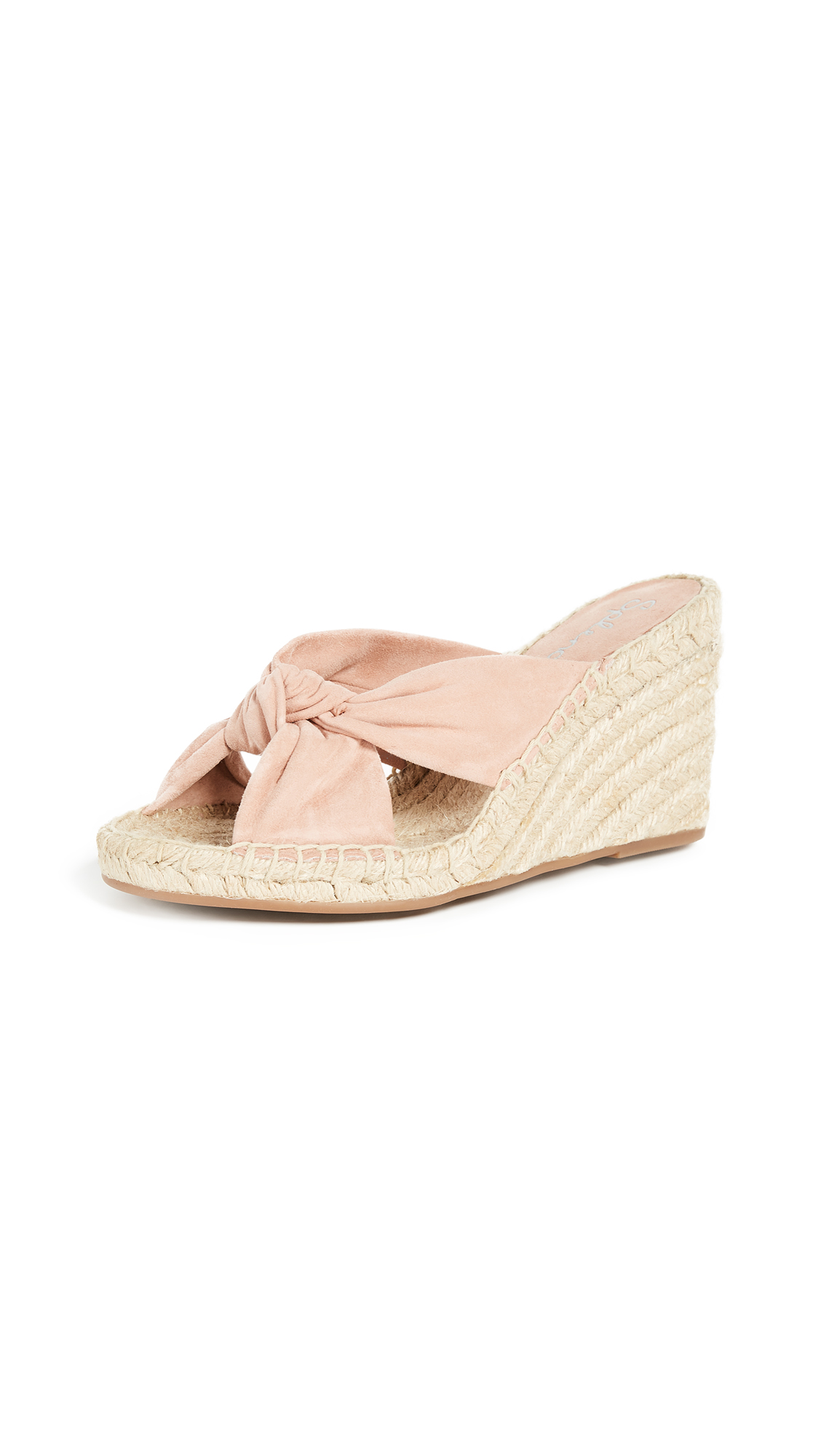Splendid Bautista Wedges In Dark Blush