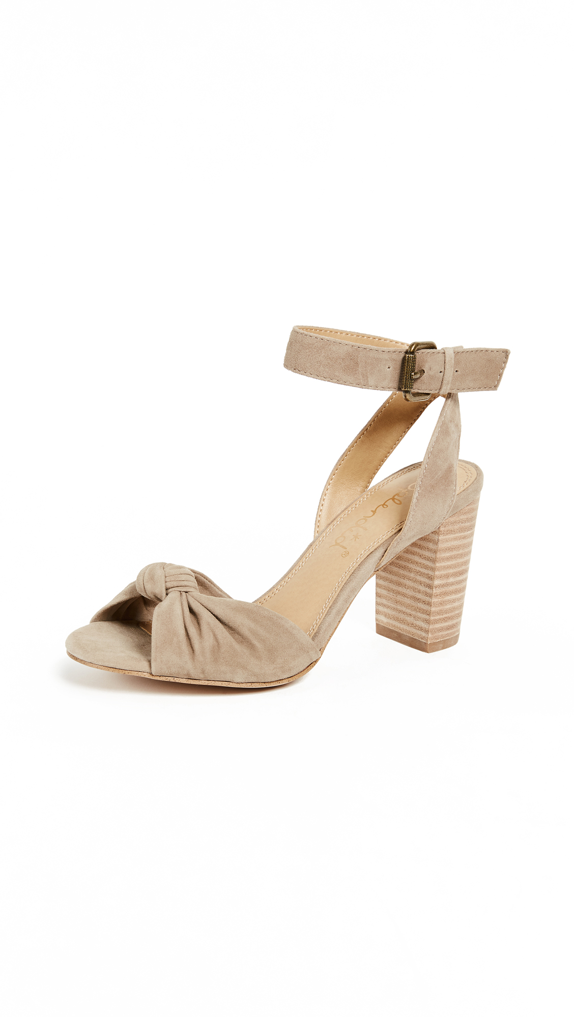 Splendid Bea Block Heel Sandals - Light Taupe