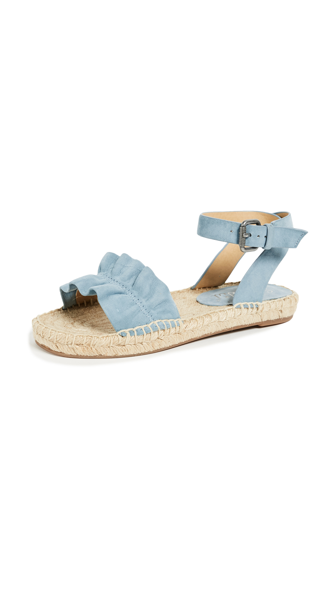 Splendid Becca Ankle Strap Espadrilles - Shadow Blue