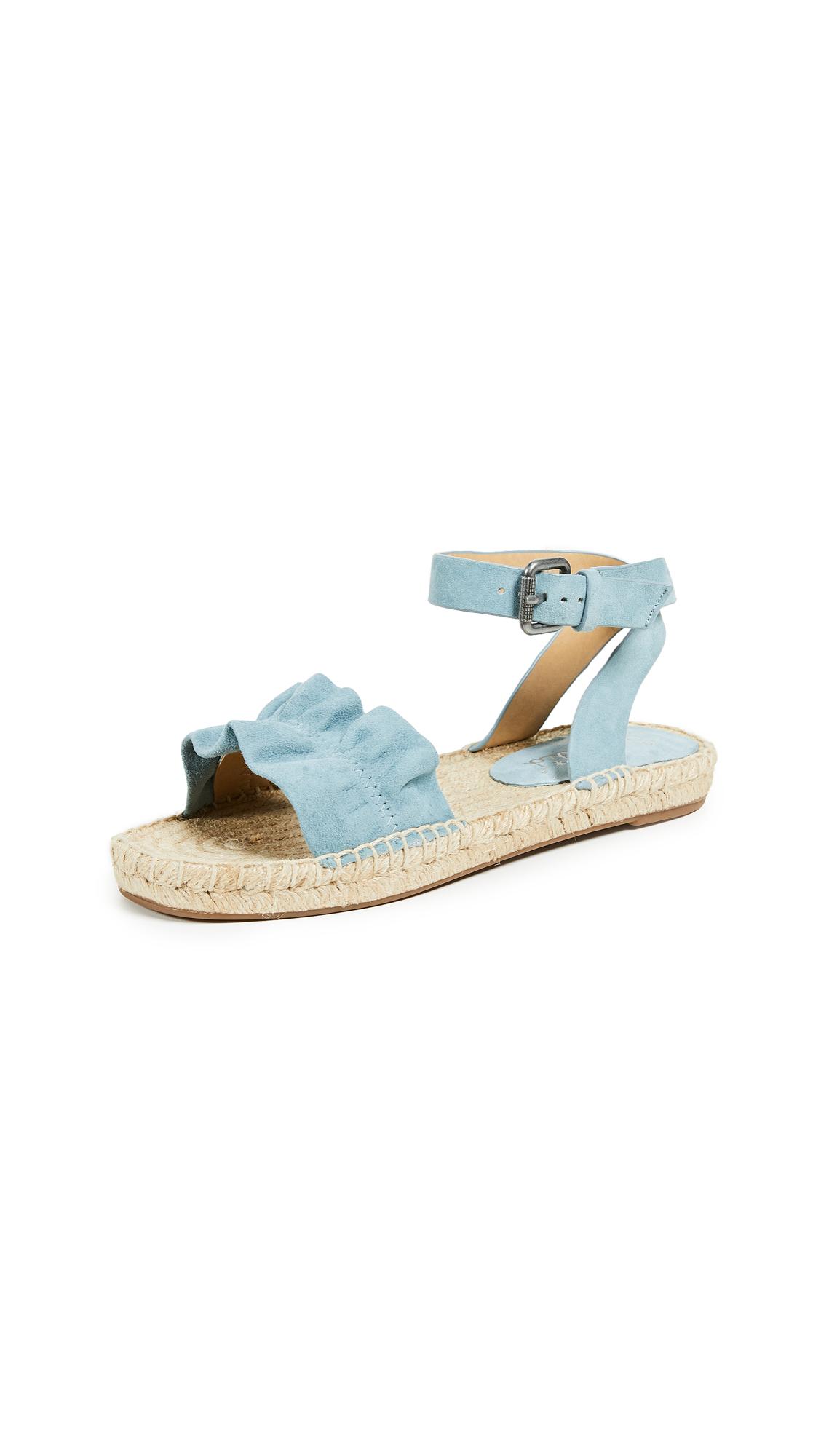 Splendid Becca Ankle Strap Espadrilles - Shadow Blue