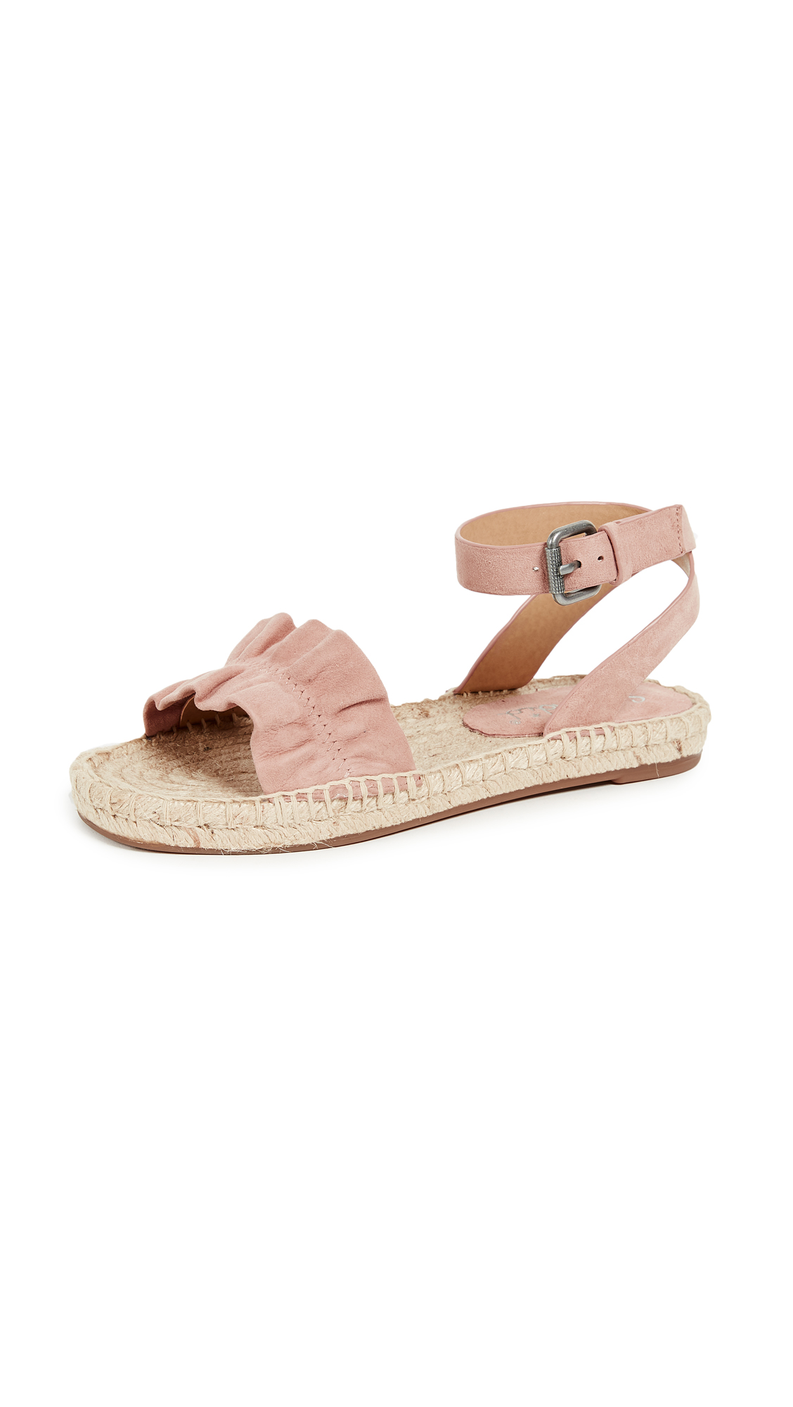 Splendid Becca Ankle Strap Espadrilles - Dark Blush