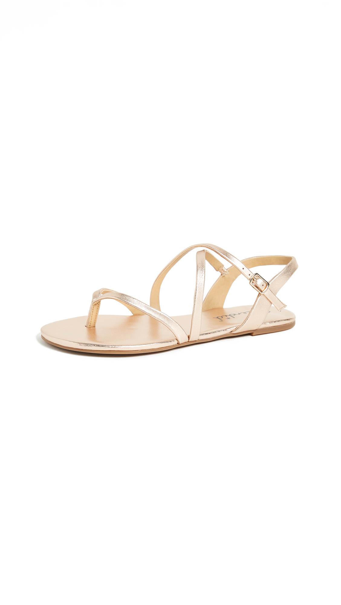 Splendid Brett Strappy Sandals - Rose Gold