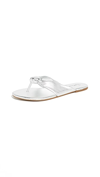 SPLENDID Bridgette Knotted Flip Flop in Silver