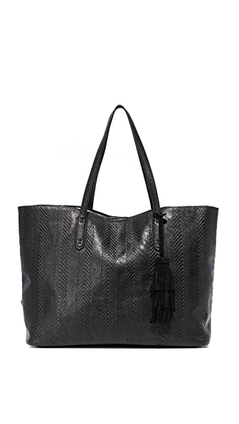 Splendid Key Largo Debossed Chevron Tote - Black