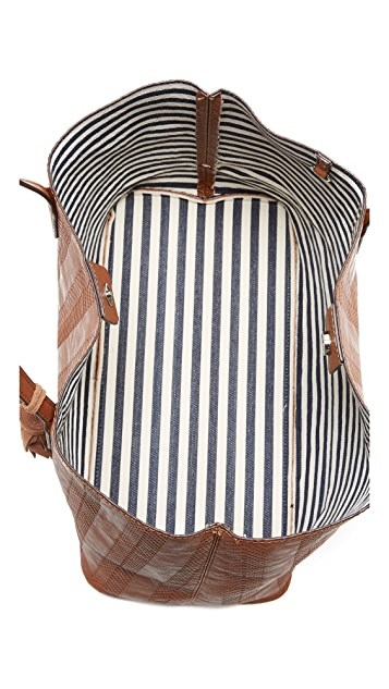 Splendid Key Largo Debossed Chevron Tote