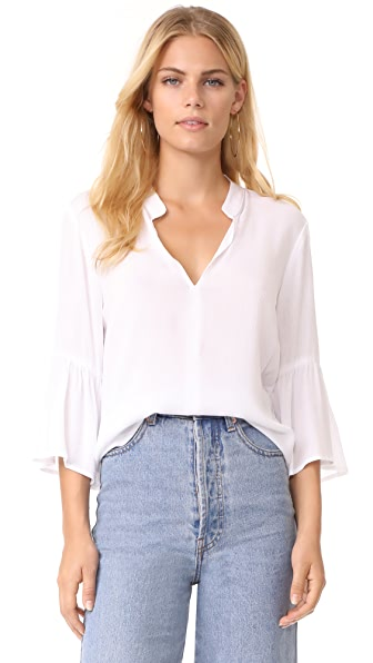 Splendid Crepe Blouse In White