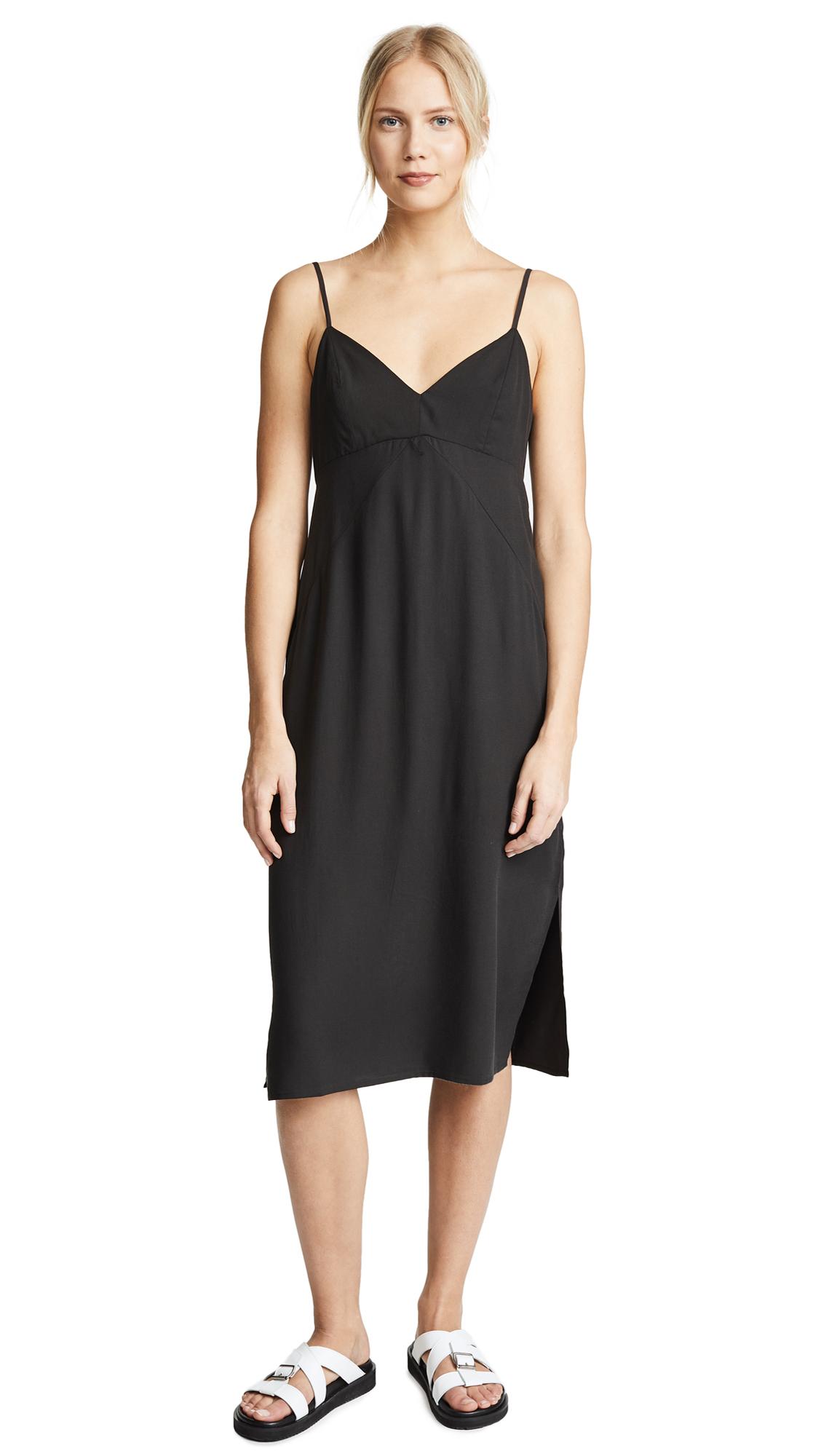 Splendid Skylight Slip Dress In Black
