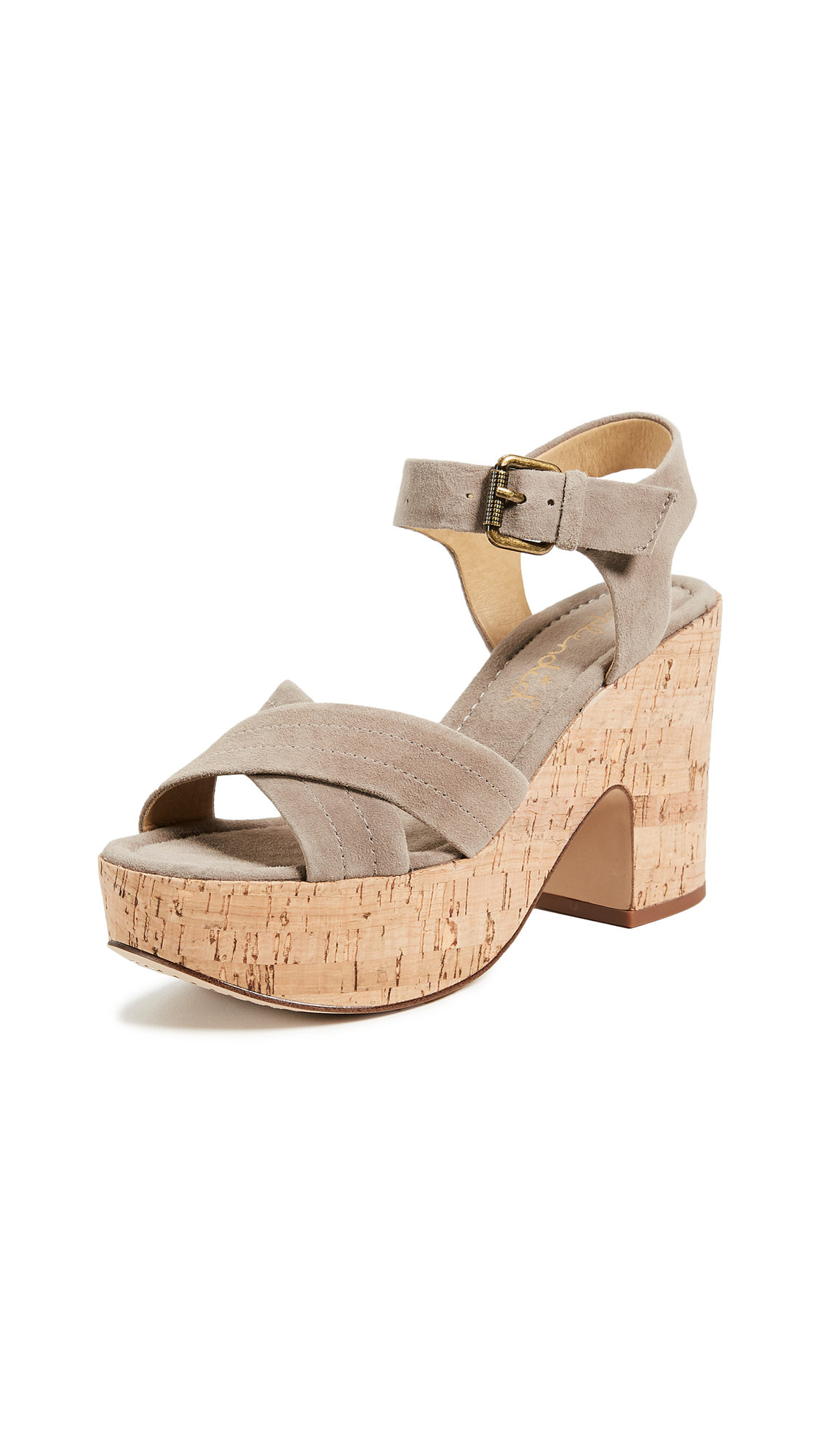 Splendid Flaire Cork Sandals - Taupe