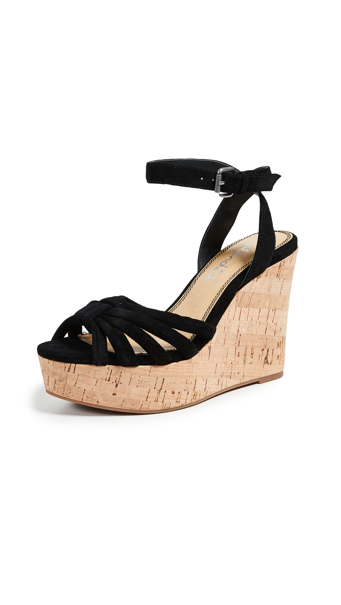 Splendid Fallon Wedge Sandals - Black
