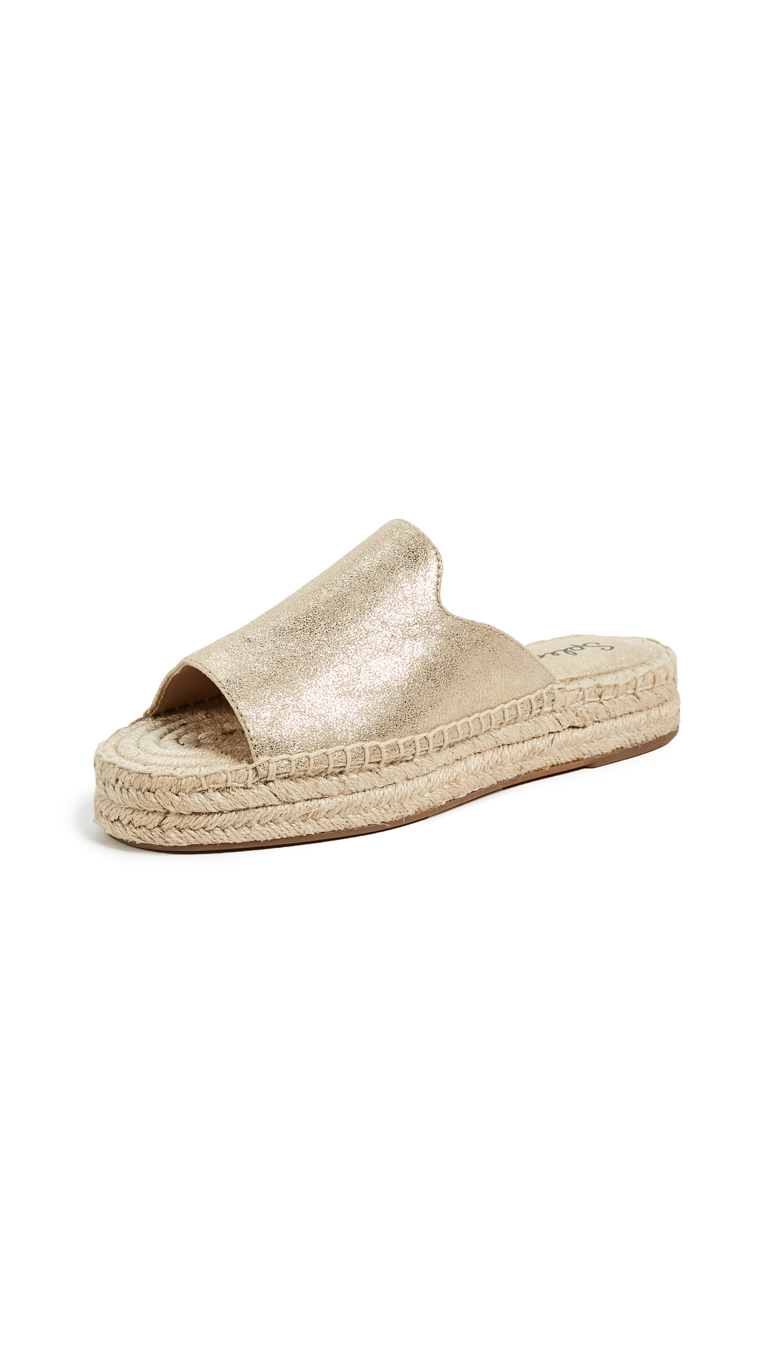 Splendid Franci Espadrille Slides - Light Gold
