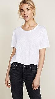 Splendid Полупрозрачная футболка с округлым вырезом