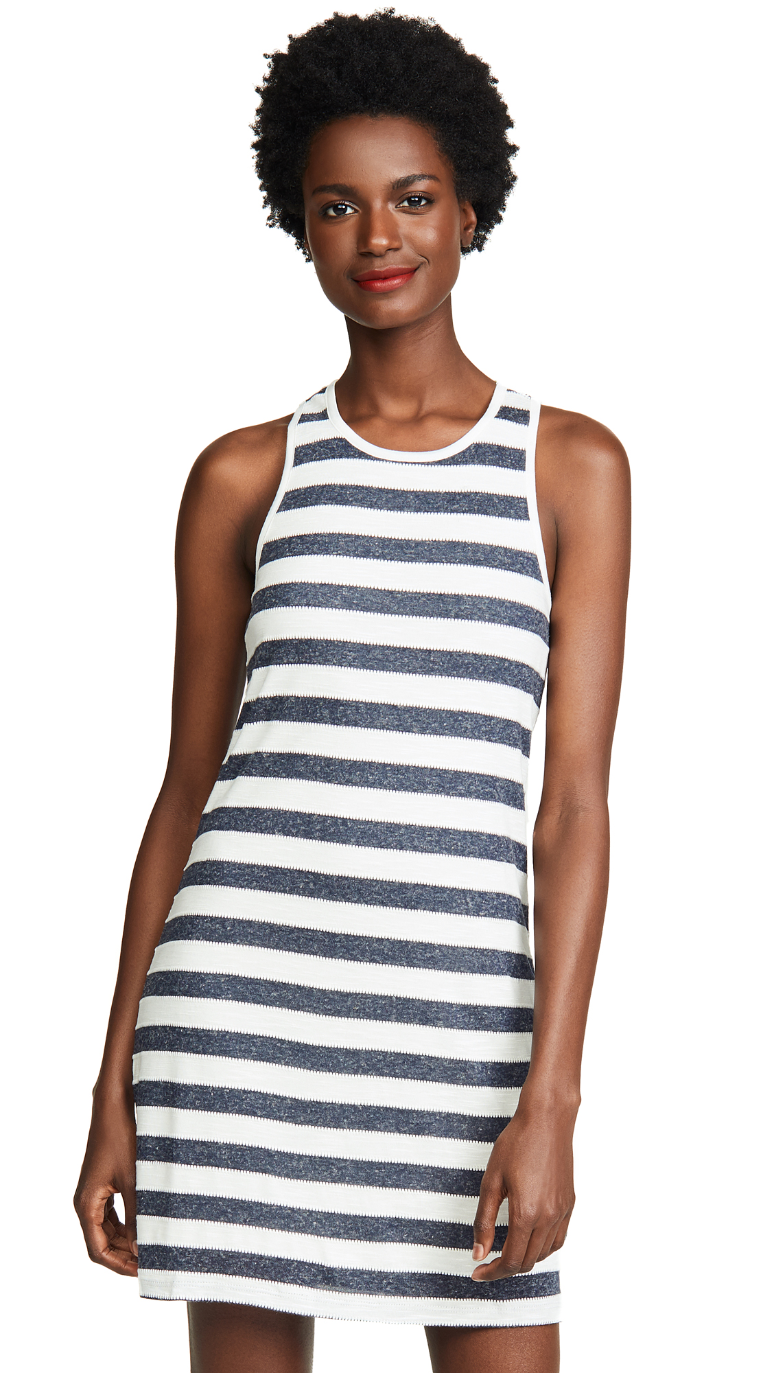 Todos Santos Knit Stripe Racerback Dress, Navy